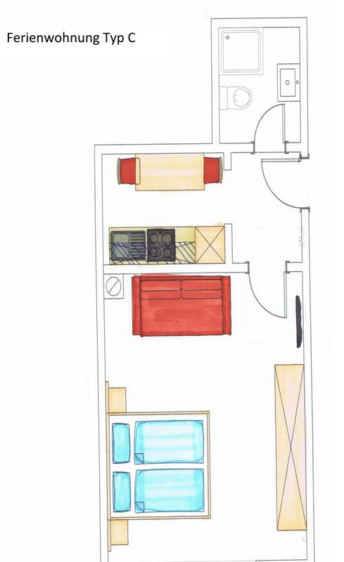 Auerhof floorplan apartment C
